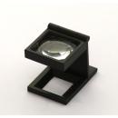 Standlupe ohne Licht 40 mm eckig (5 fach)
