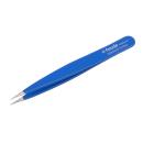 Feine spitze Pinzette blau 10cm