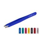 Kosmetische Pinzette schräg blau 9,8cm