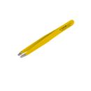 Kosmetische Pinzette schräg gelb 9,8cm
