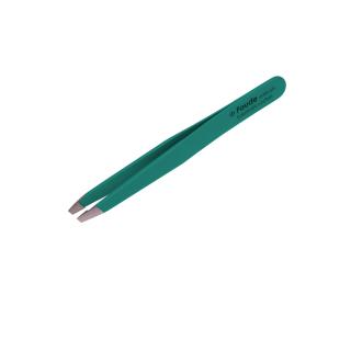 Kosmetische Pinzette schräg grün 9,8cm