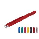 Kosmetische Pinzette schräg rot 9,8cm