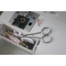 Faude Universalschere 11cm, Stick-und Nähschere, Silhouettenschere, Bastelschere, Fadenschere, Präparier-Mikroskopierschere