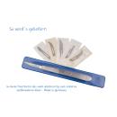 Faude Skalpell-Set, Bastelmesser, Skalpell-Halter Nr.3 flach, mit verschiedenen Wechselklingen Nr.10,11,12,14,15,16