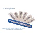 Faude Skalpell-Set, Bastelmesser, Skalpell-Halter Nr.4 flach, mit verschiedenen Wechselklingen Nr.18,20,21,23,24,25,34
